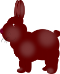 A chocolate bunny